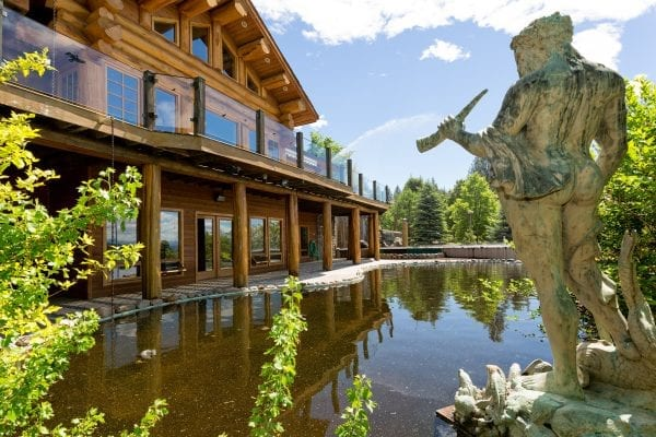 log home 7616 McLennan road listed by Domeij and Associates