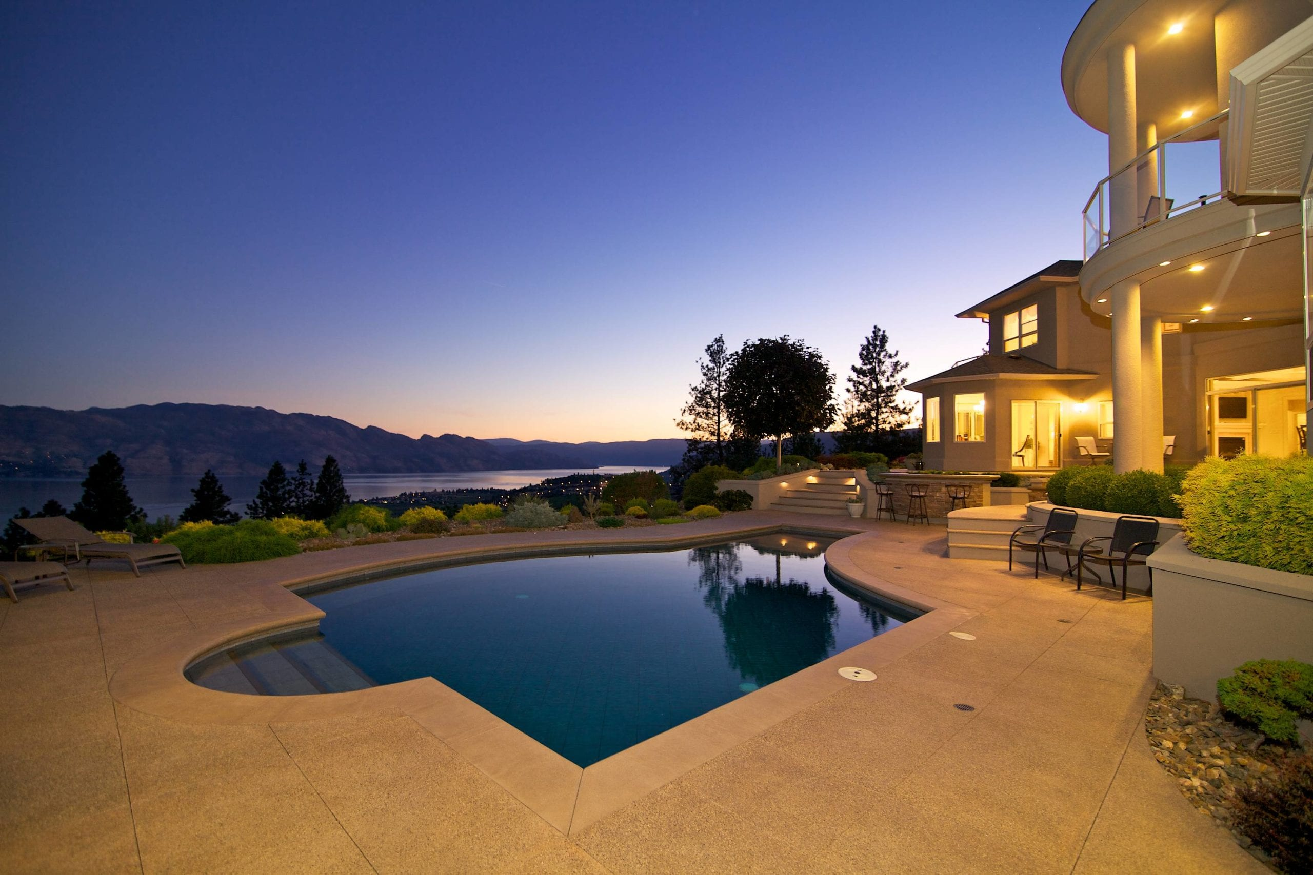 Pool and view at 1284 Timothy Place