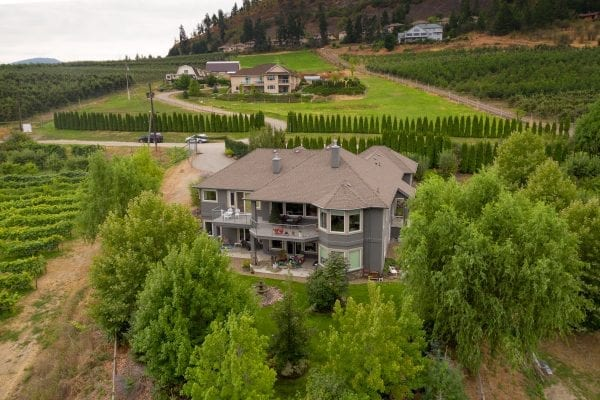 Aerial view of 2240 Rojem Road exclusivley listed by Domeij and Associates