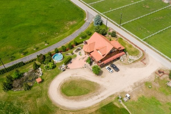 3545 Benvoulin Road log home listed by Domeij and Associates